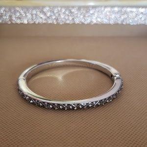 Brighton Crystal Hinged Bangle Bracelet